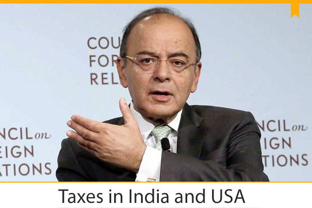 taxes in india and usa